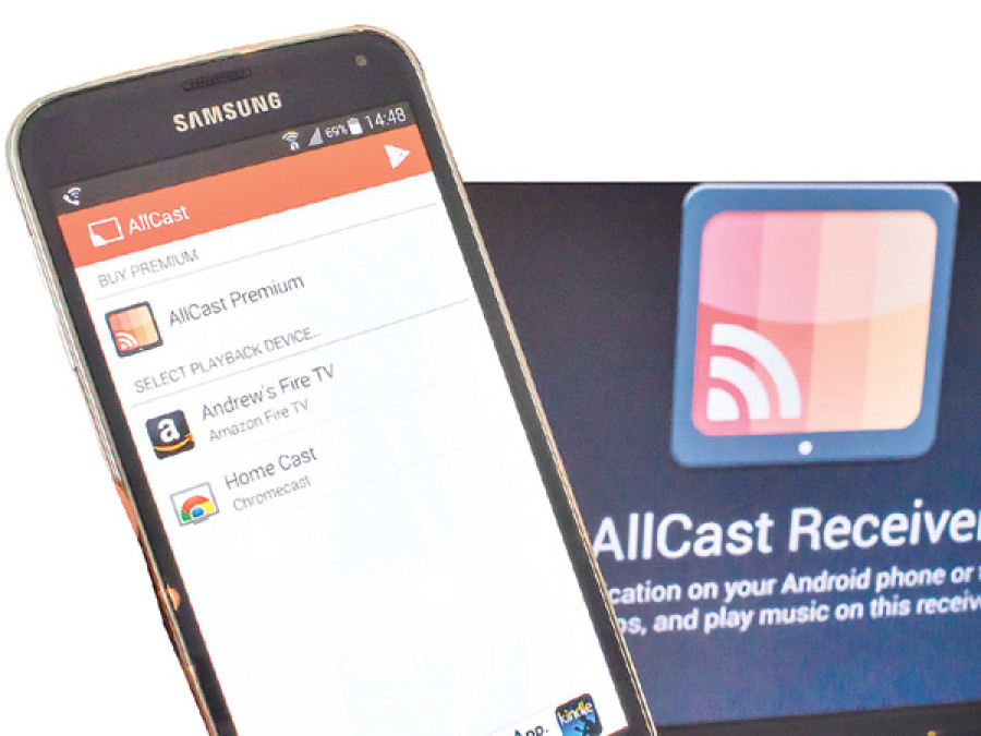 Media streaming with Chromecast and AllCast