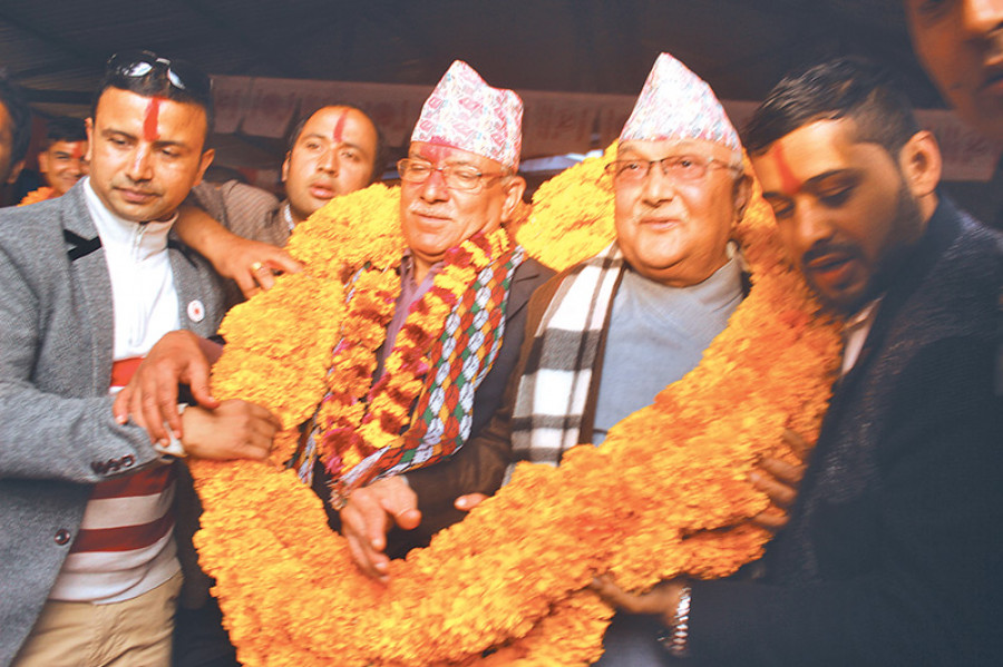 Left alliance holds key to development: Oli, Dahal