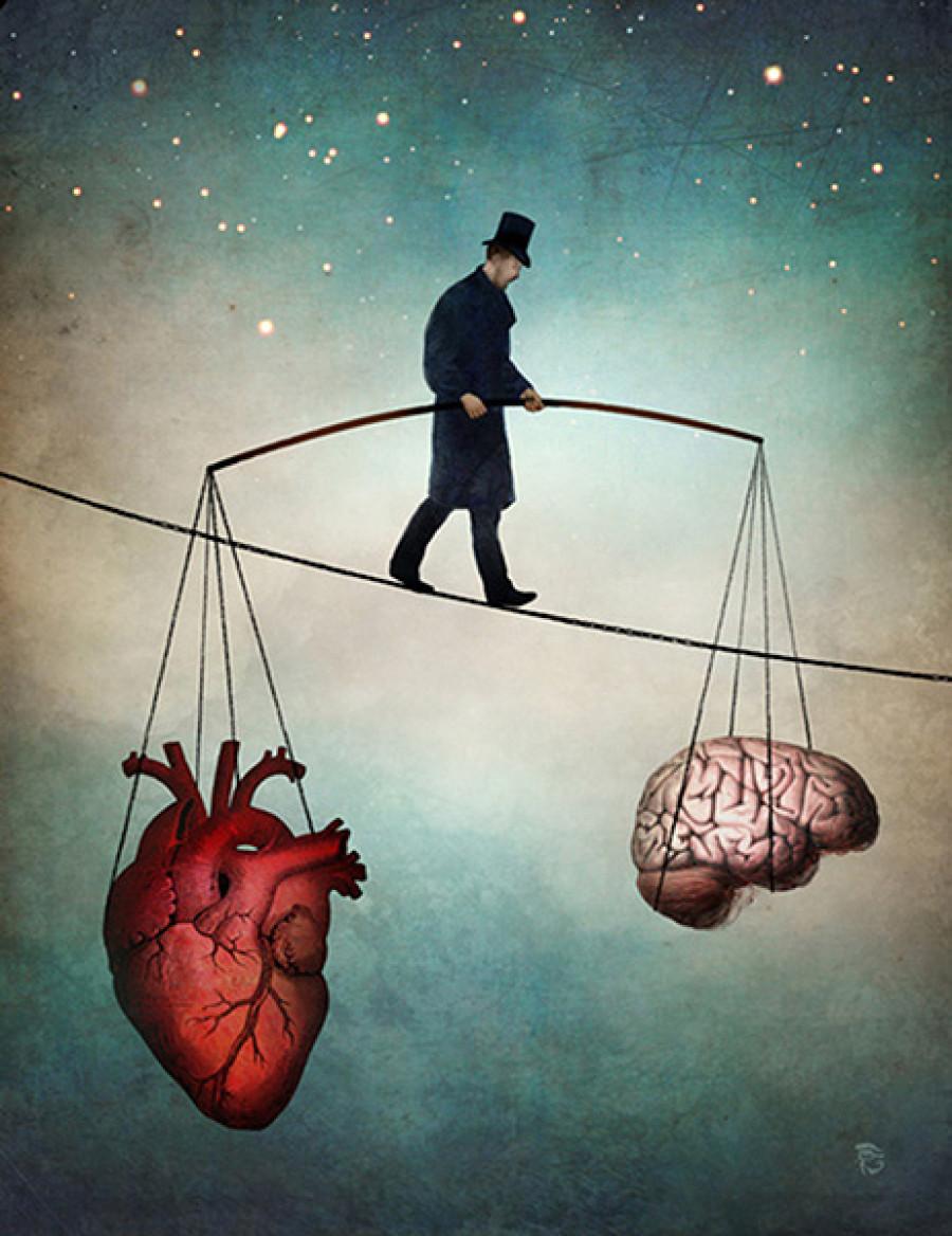 Head over heart