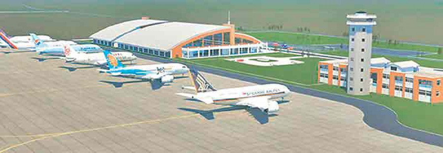 Works at Bhairahawa int'l airport fail to gather pace