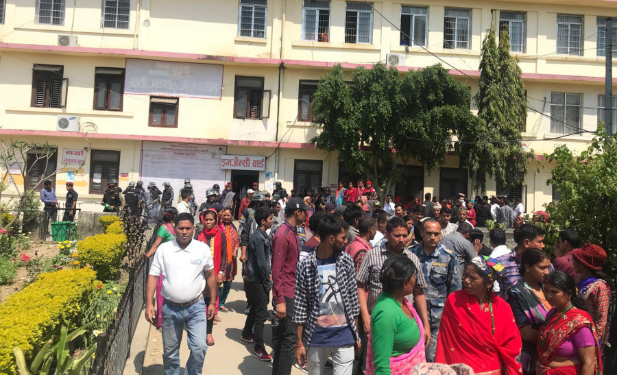 Relatives protest in Seti Zonal Hospital over death of a new mother