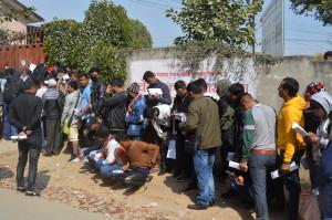 300 quake-victims under huts in Dolakha